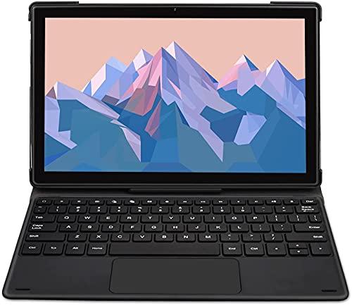 Tablet 10 Pulgadas para Juegos- TOSCIDO T50 Android 10.0, Octa-Core 2.0 GHz,128GB,6GB RAM,1920 * 1200 FHD,13MP + 5MP Camera, 4G LTE Dual SIM y 5G Wi-Fi,GPS,Buletooth 5.0,Face ID - Negro