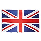 Boland 11620 - Dekorationsfahne Union Jack, 1 Stück, Größe 90 x 150 cm, England, Flagge, Fußball, Weltmeisterschaft, London, Dekorationsbanner, Wanddekoration, Mottoparty, Karneval,...