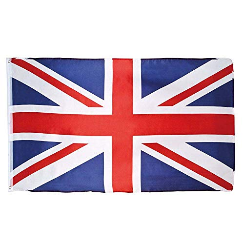 Boland 11620 - Dekorationsfahne Union Jack, 1 Stück, Größe 90 x 150 cm, England, Flagge, Fußball, Weltmeisterschaft, London, Dekorationsbanner, Wanddekoration, Mottoparty, Karneval, Geburtstag