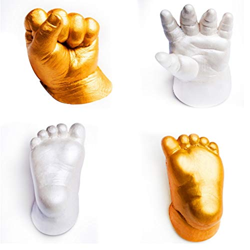 Baby 3D Stereo Hand- und Fußform Clone Puder Modell Puder sicher DIY Kit für unvergessliche Formen...