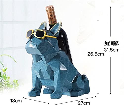 Simplicidad Moderna Bulldog francés botellero para Vino Decoraciones para el hogarSoporte para Decoraciones para el hogar Muebles creativos para el hogar Regalo para Fiestas - A