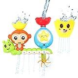 Miunana Badewannenspielzeug für Babys, Badespielzeug Kinder Interaktive Wasserfall Wasser Station, Badespaß Wasserspielzeug im Badewanne für Kleinkinder ab 2 Jahre für Badewanne Dusche Pool
