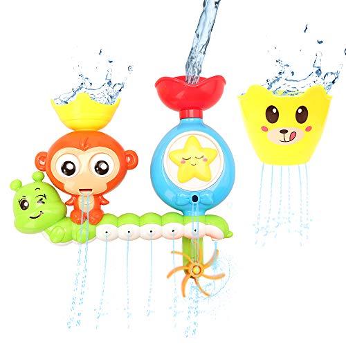 Miunana badspeelgoed voor baby's, badspeelgoed interactief watervalwaterstation voor kinderen, zwemplezier waterspeelgoed in het bad voor peuters vanaf 2 jaar voor bad douche zwembad