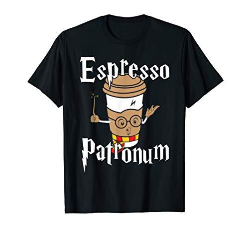 Funny Womens Espresso Patronum Cute Coffee Design T-Shirt