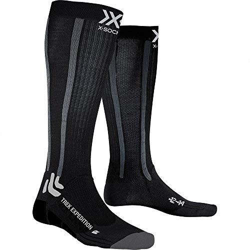 X-Socks Socks Trek Expedition, Opal Black/Dolomite Grey Melange, 39-41, XS-TS11S19U-B010-39/41