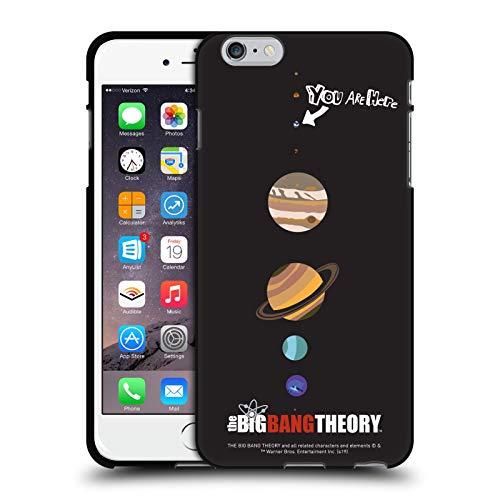 Head Case Designs Ufficiale The Big Bang Theory Terra Grafica Arti Cover Nera in Morbido Gel Compatibile con Apple iPhone 6 Plus/iPhone 6s Plus