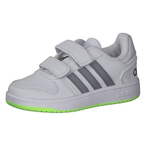 adidas Jungen Unisex Kinder Hoops 2.0 CMF Basketballschuh, DSHGRY/Grey/SIGGNR, 33 EU