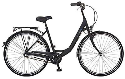 """Prophete Unisex- Erwachsene GENIESSER 9.3 City Bike 28"""" Cityfahrrad, schwarz matt, RH 50 cm"""