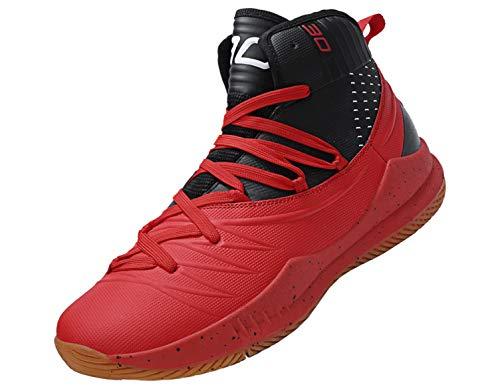 SINOES Zapatillas De Baloncesto para Hombre, Zapatillas De Baloncesto De Tejido De Microfibra Y Zapatillas Ligeras De Microfibra De Rendimiento