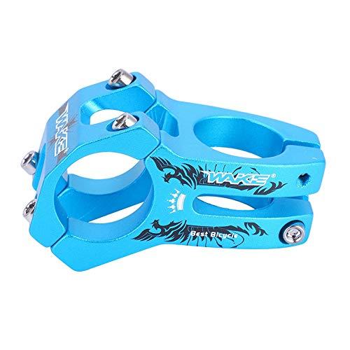 Tbest Attacco Manubrio MTB,Stelo Manubrio Corto per Bici, Manubrio Corto per Manubrio per Bici, Bici da Strada, MTB, BMX, Fixie Gear, Ciclismo.(Blu)