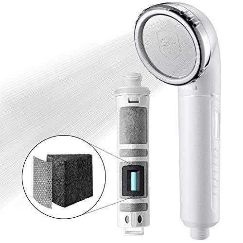 Miniwell Duschkopf mit Filter L750 - Filter-Duschkopf - Gefilterter Duschkopf - Duschfilter - Filter für Dusche - 99% Entfernung von Chlor und Wasser-Verunreinigungen (Duschkopf ohne Schlauch)