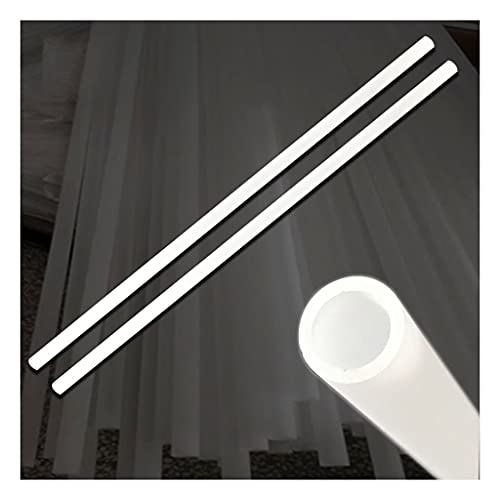 MYCZLQL 10pcs 5 0CM Tubo Helado PMMA Tubo de acrílico OD 12mm / 14 mm / 16 mm Tubo Duro Mate de 500 mm de Longitud, para Ordenador Personal Sistema de Enfriador de Agua Bucle Personalizado
