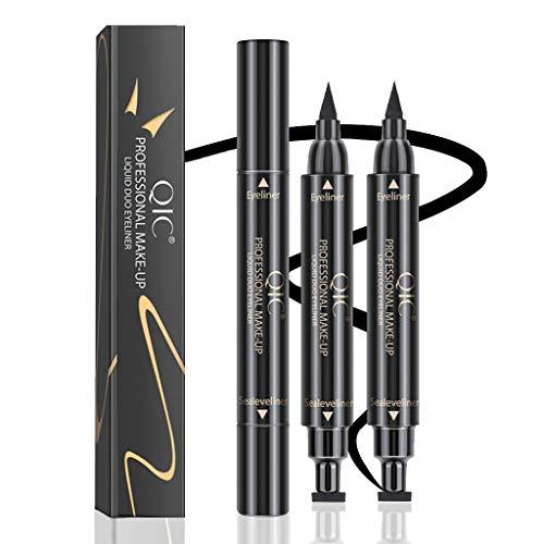 Winged Eyeliner Stamp-2Pens,Long Lasting Liquid Eyeliner Pen Waterproof Vamp Style Wingliner For Cat Eye (Winged)