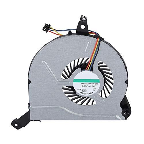 Ventilador de refrigeración para CPU, Ventilador de refrigeración para portátil, Ventilador de refrigeración de 5 V y 4 Pines, Alto Rendimiento y Buena disipación de Calor, para portátil HP 15 ‑ V 15