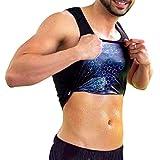 Power Slender for Men Sweat Shaping Vest with Osmotex Technology Lightweight - Better Than Neoprene (Large) Black, Purple