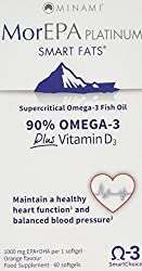 Designed to offer you a high concentration of Omega 3 Fatty Acids available on the market. Highest Supercritical 765 mg EPA/240 mg DHA + extra vitamin D. Basic assistance in maintaining a healthy heart and blood circulation contributes to healthy cho...