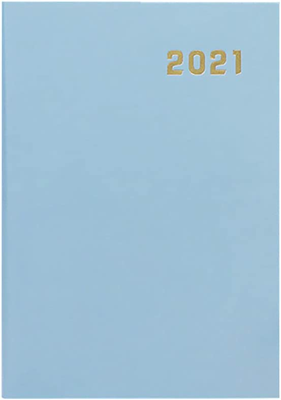 NUOBESTY 2021 Calendar Notebook Blue Planner Sale Special Price Monthly Weekly 1 year warranty Plan