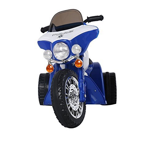 homcom Triciclo Moto Elettrica per Bambini 80 × 43 × 54.5cm Blu