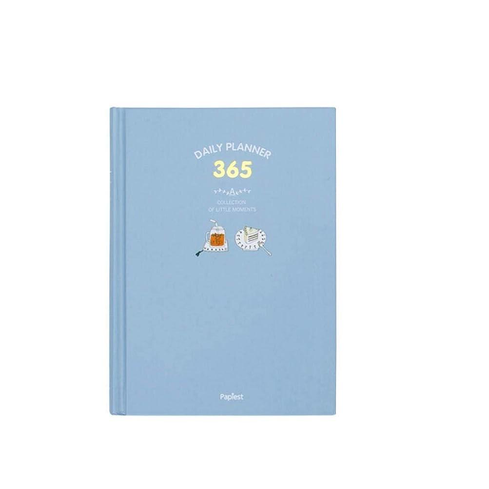 ノートブック - 自分で塗りつぶすカラーページのスケジュール帳、365日プランブック、自己補充ハンドブック、ピンクハンドブック、ブルーハンドブック、Small Fresh Notebook (Color : Blue)