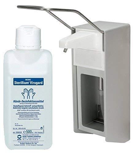 Medi-Inn Aluminium-Wandspender Wandhalter gebürstet 500 ml + Bode Sterillium Virugard 500 ml