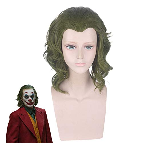 Pelcula Joker Origin Arthur Fleck Peluca rizada corta Cosplay Disfraz Joaquin Phoenix Joker Pelucas de pelo sinttico