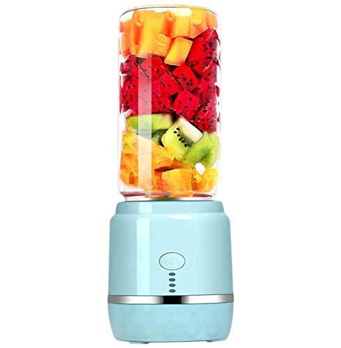 Licuadora Portátil Exprimidor portátil Máquina automática de jugo Material de vidrio de borosilicato alto Carga USB Mini exprimidor Licuadora licuadora Licuadora de frutas y verduras