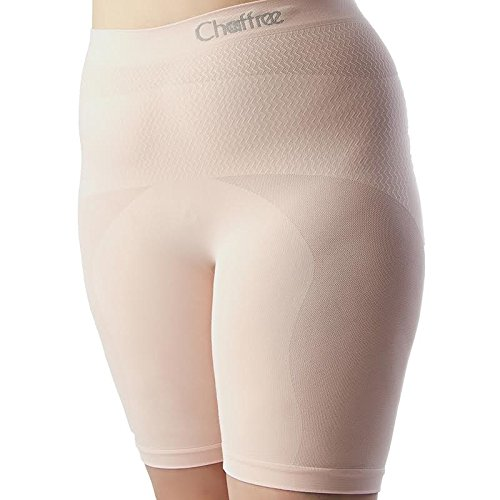Chaffree Womens Anti Chafing Long Leg Briefs, Stop Thigh Rubbing Underwear 1PK (2XL, Blossom) Skin Pink