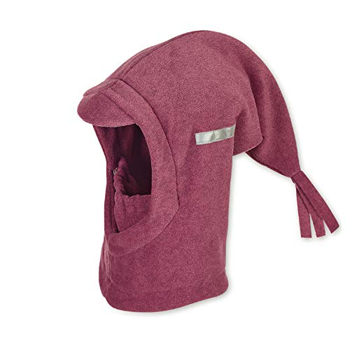 Sterntaler Schalmütze mit Zipfel und elastischem integriertem Schal, Alter: 2-4 Jahre, Größe: 53, Lila