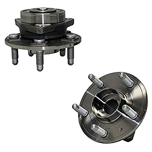Detroit Axle 513282 Complete Pair Front Wheel Bearing & Hub Assembly Kit for 2010-2016 Chevrolet Camaro / 2008-2016 Cadillac CTS (Except V Models), 2018-2019 XTS Impala - 2pc