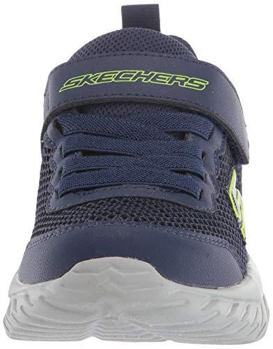 Skechers Nitro Sprint-krodon, Zapatillas Niños, Navy Textile/Navy & Lime Trim, 29 EU