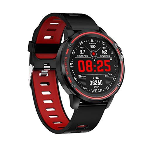 ZYY L8 Smart Watch Hombre IP68 IP68 A Prueba De Agua Reloj Modo Smartwatch con ECG PPG Presión Arterial Ritmo Cardíaco Deportes Fitness,C