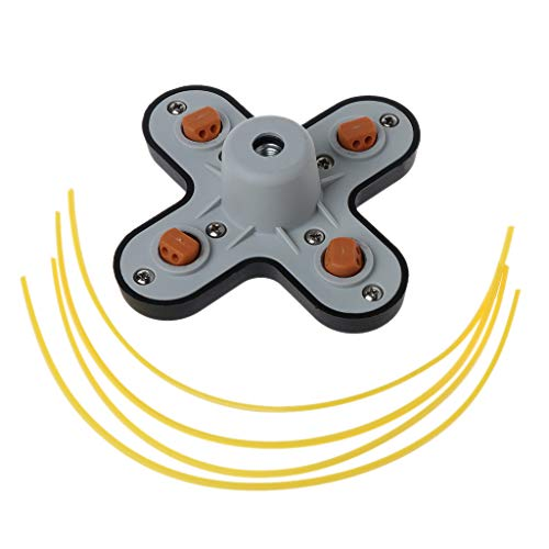 Manyo - Cabezal de desbrozadora universal con cabeza de corte de borde de metal para moisoniza/cortacésped/cortacésped, cabeza de hierba de cadena + 4 hilos