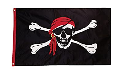 In the Breeze 4098 I'm a Jolly Roger Applique Grommet Flag