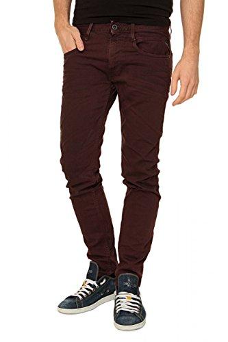 Replay Herren Jeans Slim Leg Anbass, Farbe: Bordeaux, Größe: 36/32