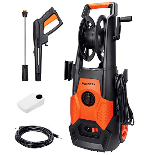 ROOJER 1800W Electric Pressure Washer High Pressure Power Washer Machine Car Washer with Power Hose Gun Turbo Wand 5 Interchangeable Nozzles Max 3500 PSI 2.6 GPM