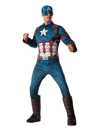 Horror-Shop traje muscular capitán América 3D XL