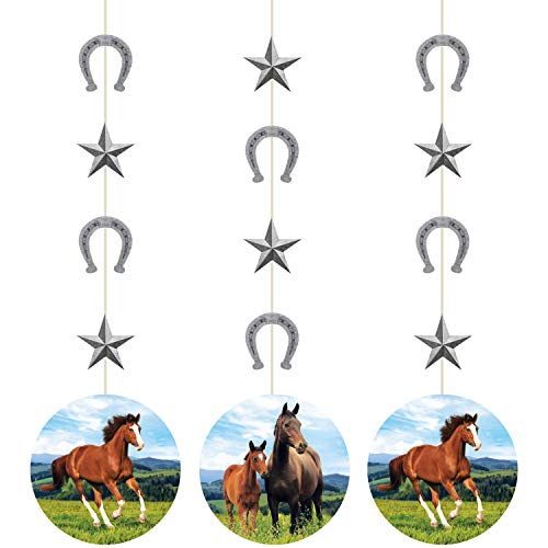 Creative Converting 340096 Wild Horse String Hanging Decoration, Multicolor, 32
