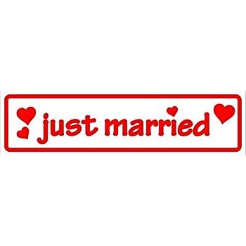 INDIGOS UG Magnetfolie f/ür Auto//LKW//Truck//Baustelle//Firma Magnetschild Just Married 30 x 8 cm