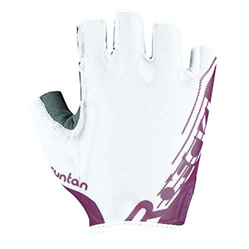 Roeckl Ilova 2021 - Guantes de ciclismo (talla 6,5), color blanco y...