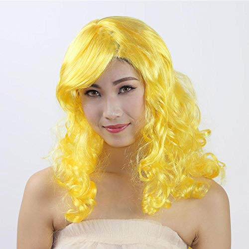 Peluca amarilla larga de fiesta
