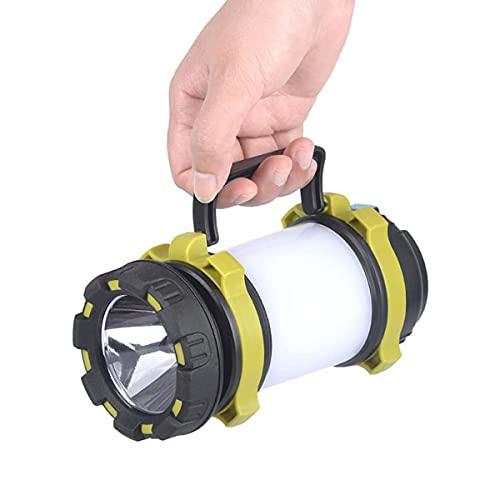 Brillante Camping linterna portátil acampada luz LED linterna recargable 4 modos de luz 3000mAh Power Bank Linterna impermeable linterna para el huracán Emergencia Oures de energía Casa y más