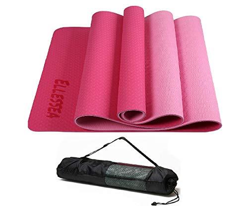 ELLESSEA Tappeto Yoga (Rosa/Fucsia)