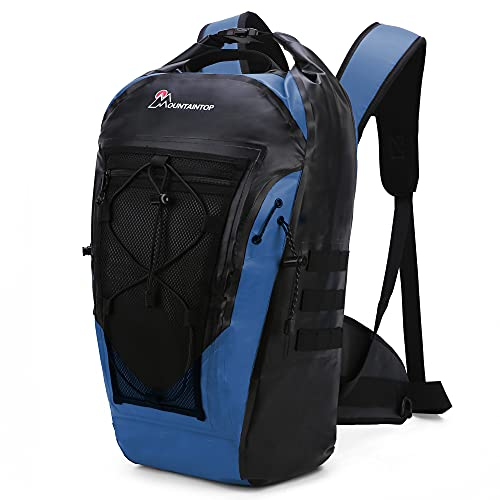 MOUNTAINTOP Floating Waterproof Dry Bag Backpack 30L for Kayaking Swimming Boating Beach Fishing Outdoor