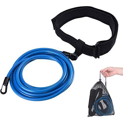 TATAFUN Cinturón de Natación Ajustable para Piscinas de Natación, Exteriores Cinturón de Resistencia para Natación, Cinturón de Entrenamiento de Natación (Azul) 🔥