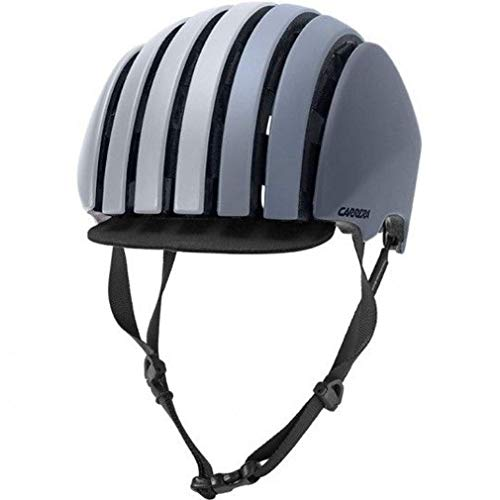 Carrera Foldable CRIT Fahrradhelm, matt cool Grey, 58