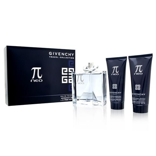 PI NEO by Givenchy Gift Set for MEN: EDT SPRAY 3.3 OZ & AFTERSHAVE BALM 2.5 OZ & HAIR AND BODY SHOWER GEL 2.5 OZ