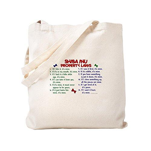 CafePress–Shiba Inu Property Laws 2–Leinwand Natur Tasche, Reinigungstuch Einkaufstasche Tote S khaki