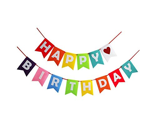 Happy Birthday Cloth Banner For Birthday Party Supplies Birthday Decorations