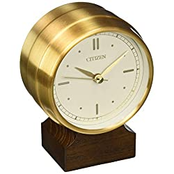 Citizen CC3002 Workplace Desk Clock, Gold-Tone