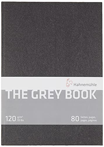 Hahnemuhle Grey Book Sketch Book A4 (11.7x8.3 inches) 120gsm 40 sheets/80 pages